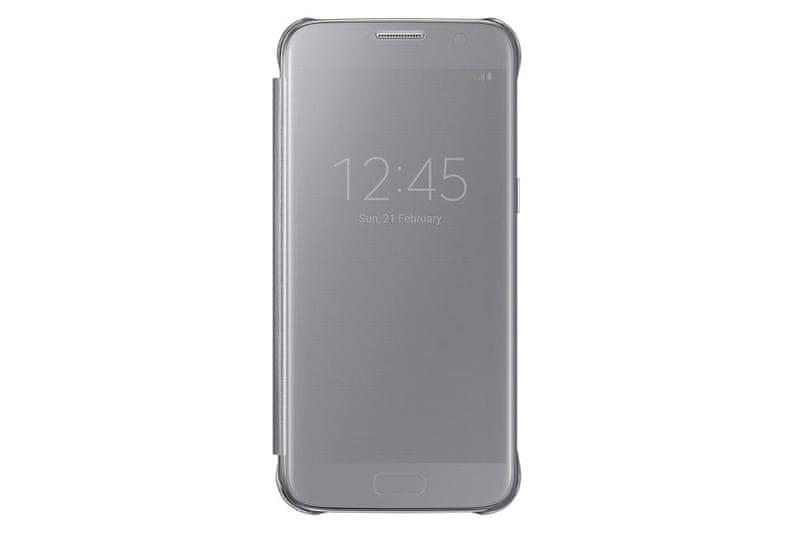 Samsung flipové pouzdro Clear View, Galaxy S7, stříbrné