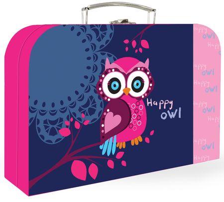Karton P+P Happy Owl Papír bőrönd
