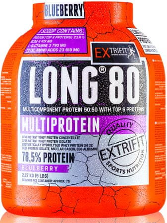 Extrifit Long 80 Multiprotein 2,27 kg čučoriedka