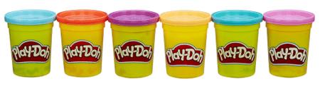 Play-Doh plastelin v različnih barvah, 6 lončkov