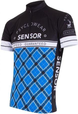 Sensor kolesarska majica Dres Hero, črna/modra, S