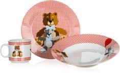 Banquet Dziecięcy zestaw Niedźwiadki Red 3szt.