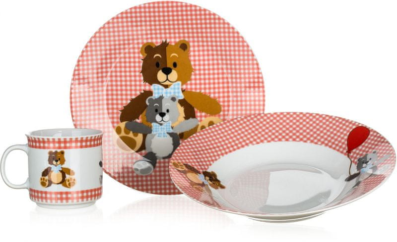 Banquet Dětská sada Medvídci Red 3ks