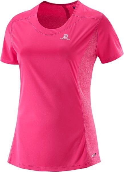 Salomon Agile SS Tee W Hot Pink XS
