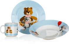 Banquet otroški jedilni set Blue Bears, 3 kosi