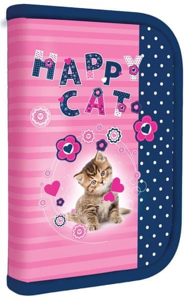 Karton P+P Kočka Penál 1 patrový s chlopní