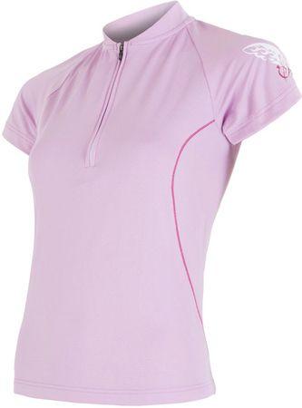 Sensor kolesarska majica Entry, ženska, roza, M