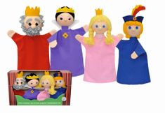 MÚ BRNO Zestaw 4 pacynek Królewska rodzina