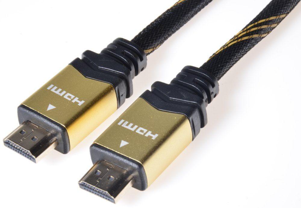 PremiumCord HDMI High Speed + Ethernet kabel, 1,5 m
