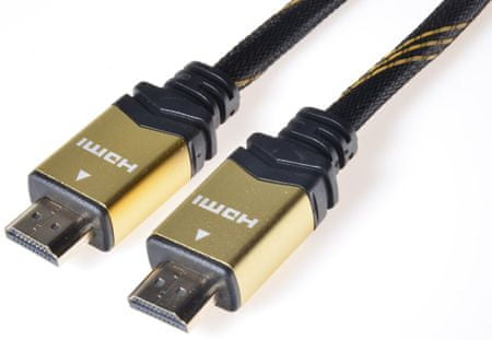 PremiumCord HDMI High Speed + Ethernet kábel, 1 m