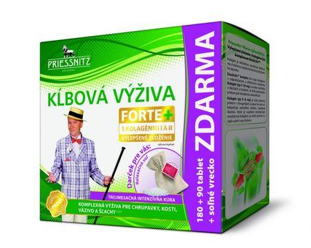 Priessnitz kĺbová výživa forte + kolagény, inov.13 tbl 180+90 zadarmo (270 ks) + soľné vrecko zadarmo, 1x1 set