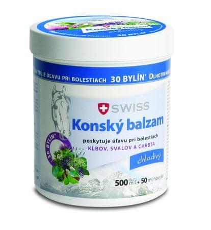 Swiss Konský balzam swiss chladivý (inov.16) 500+50 ml zadarmo (550 ml)