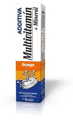 Additiva multivitamín + minerál, orange tbl eff 1x20 ks