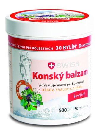 Swiss Konský balzam swiss hrejivý  (inov.16) 500+50 ml zadarmo (550 ml)