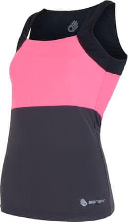 Sensor majica Infinity, roza/črna, S