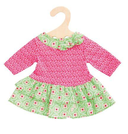 Heless Šaty s volánikom zeleno/ružové