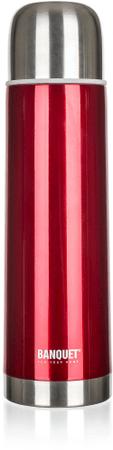 Banquet Rozsdamentes acél termosz, Piros, 1 l