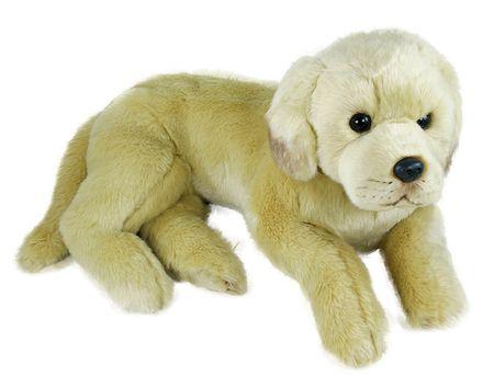 Rappa Plyšový pes labrador ležící, 38 cm