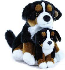 Rappa Plyšový pes salašnícky s mláďaťom, 25 cm
