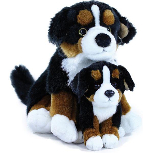 Rappa Plyšový pes salašnický s mládětem, 25 cm