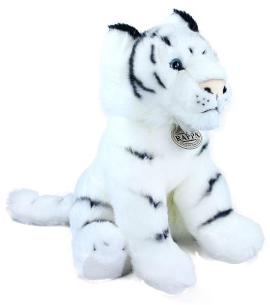 Rappa Plyšový tygr bílý sedící, 30 cm