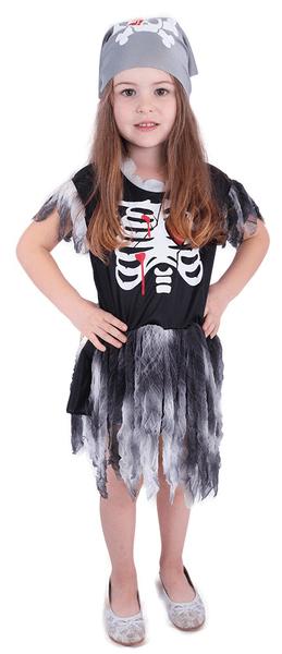 Rappa Kostým pirátka skeletonka S