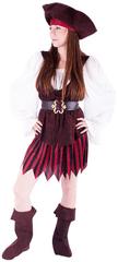 Rappa kostum piratke s čevlji za odrasle, M
