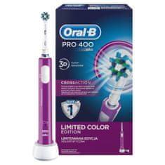 Oral-B Pro 400 Elektromos fogkefe, Lila