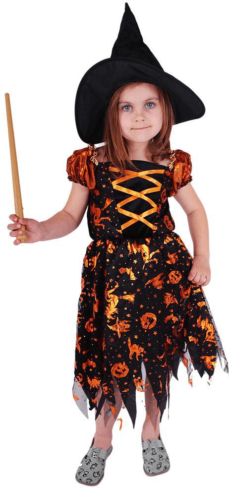 Rappa Kostým čarodějnice s kloboukem M