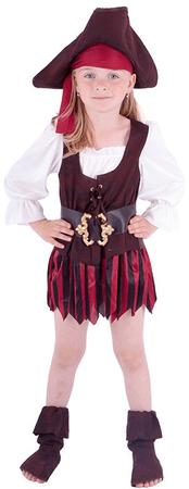 Rappa kostum piratke s čevlji in klobukom, S