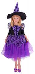 Rappa Kostým čarodějnice fialová s rukávy