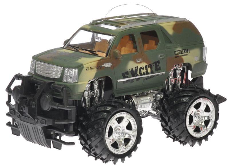 Mikro hračky RC Jeep vojenský 25 cm 27 MHz