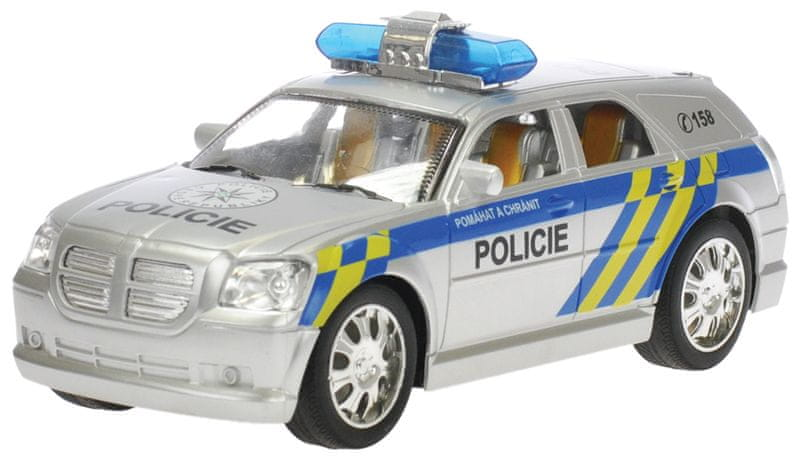Mikro hračky RC auto policie 20cm 27MHz