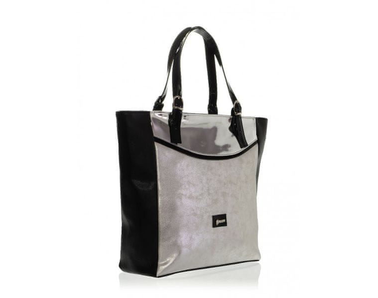 GROSSO BAG stříbrná kabelka