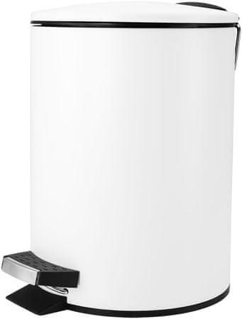 TimeLife Odpadkový kôš pedálový 3l biela