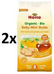 Holle Bio Dětské špaldové mini suchary - 2 x 100g