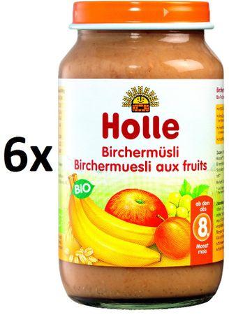 Holle Bio Cereálne müsli s ovocím - 6x220g- 6 x 220g