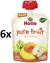 Holle Bio ovocné pyré jablko, mango - 6 x 90g