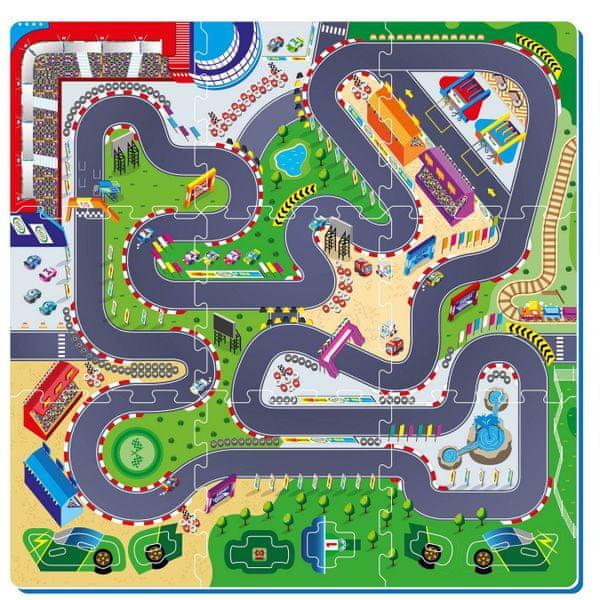 Teddies BABY Pěnové puzzle Závodní dráha, 6ks