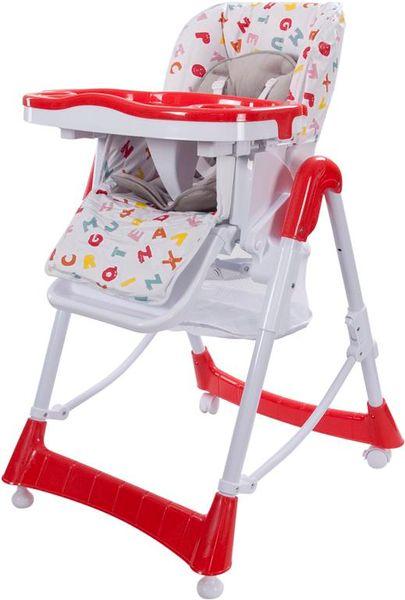 Sun Baby Jídelní židlička Laura, červená