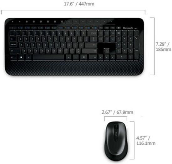 Microsoft Wireless Desktop 2000 USB, CZ&SK (M7J-00013)