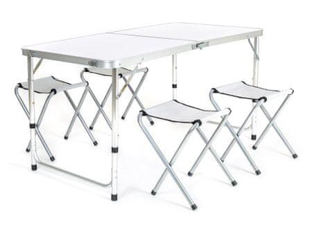 Happy Green miza in 4 stoli za kampiranje Bilbao, zložljivi