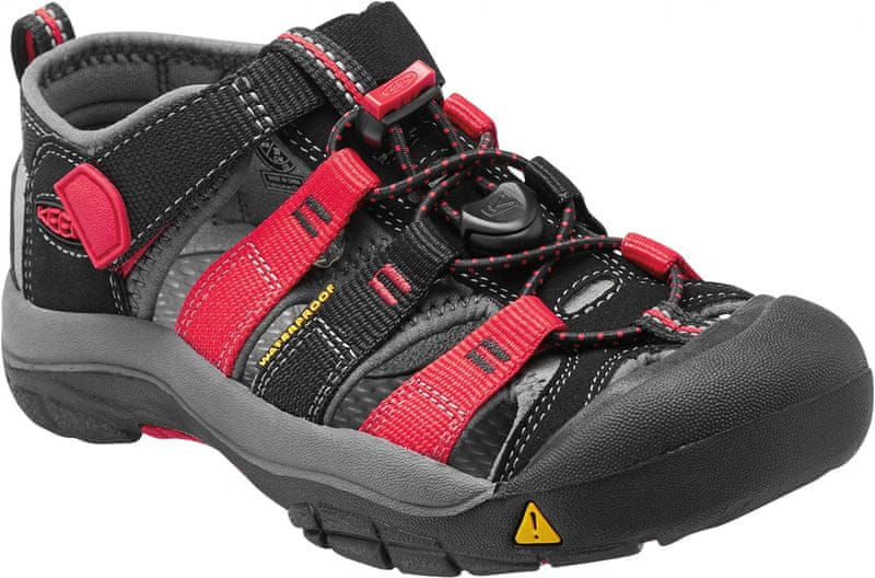 KEEN Newport H2 Jr Black/Racing Red Multi US 3 (35 EU)