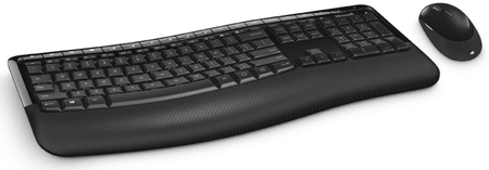 Microsoft tipkovnica Comfort Desktop 5050 z miško, slovenska, črna (PP4-00019)