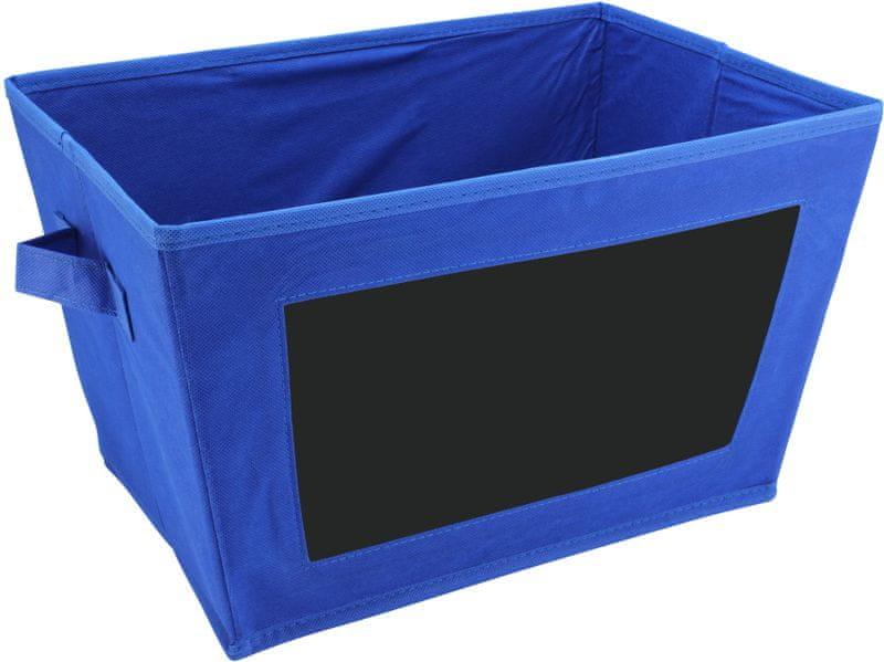 Time Life Skládací box s tabulkou modrá