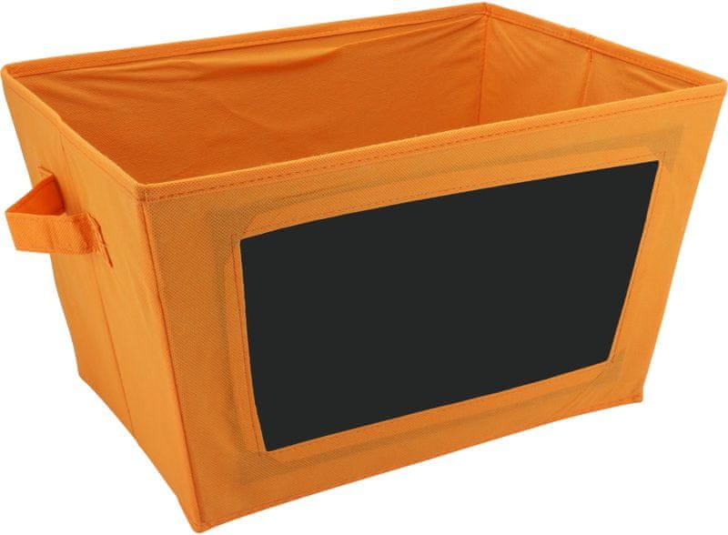 Time Life Skládací box s tabulkou oranžová