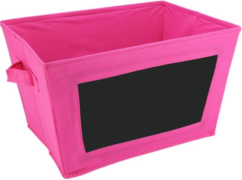 Time Life Skládací box s tabulkou růžová