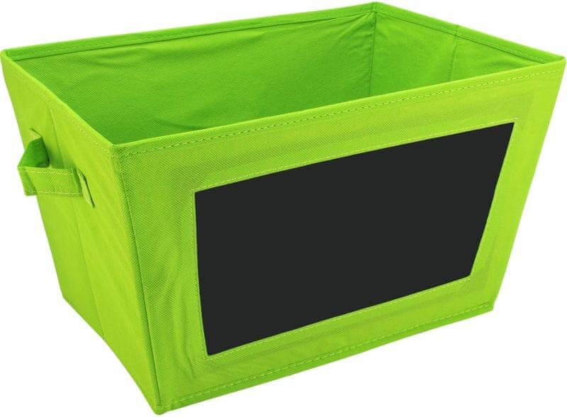 Time Life Skládací box s tabulkou zelená