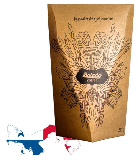 Balada Coffee Panama SHB Boquete, 250 g, zrno