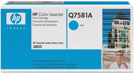 HP Toner Color LaserJet - Q7581A - ciánkék